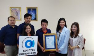 Socotec - Congratulations to NONGKHRAN PACKAGING CO., LTD. for received ISO 9001:2015 from SOCOTEC Certification (Thailand) Co., Ltd